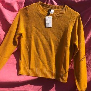 H&M bright orange/yellow sweatshirt